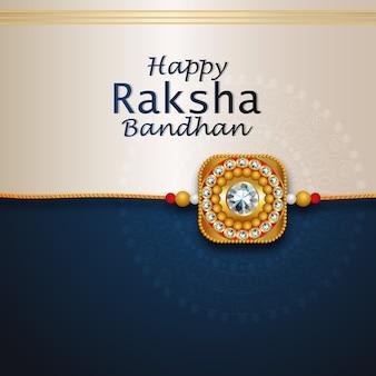 Design rakhi per happy raksha bandhan con uno sfondo creativo