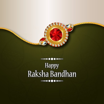 Design rakhi per lo sfondo happy raksha bandhan