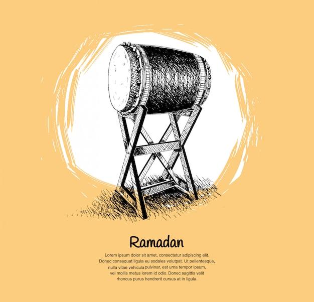 Design ramadan con bedug