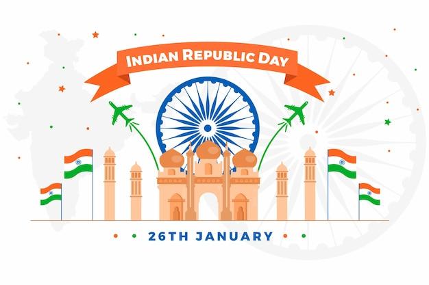 Design rappresentativo per la festa della repubblica indiana