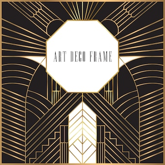 Design retrò art deco frame