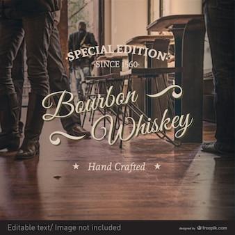 Design retro etichetta whisky timbro vettore