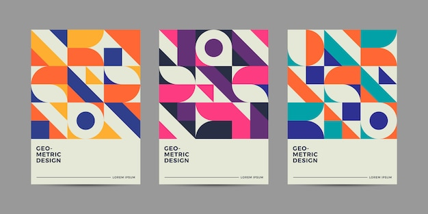Design retrò geometrico copertina