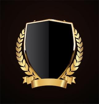 Design retrò scudo d'oro