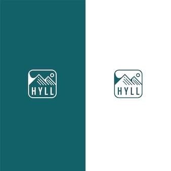 Design semplice con logo di montagna