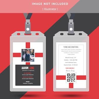 Design semplice della carta d'identità