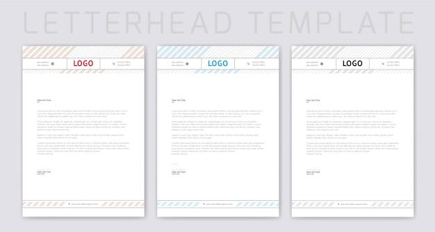 Design semplice della carta intestata