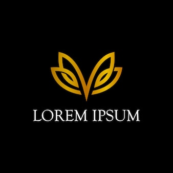 Design semplice logo farfalla linea arte