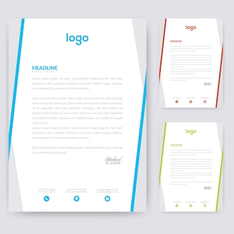 Design semplice per carta intestata