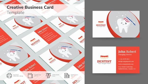 Design sofisticato biglietto da visita con tonalità rosse e bianche