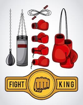 Design sportivo di boxe