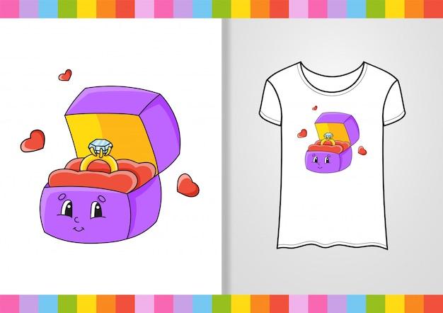 Design t-shirt. simpatico personaggio sulla maglietta.