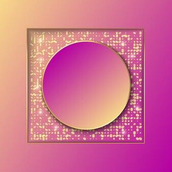Design template sfondo banner con glitter