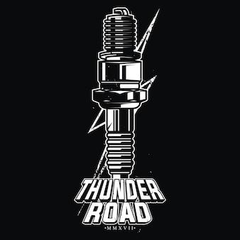Design thunder road per motociclisti classici.