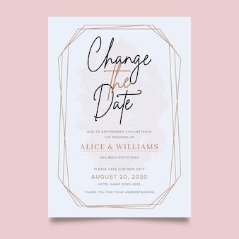 Design tipografico del matrimonio posticipato