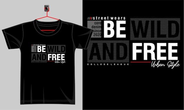 Design tipografico per t-shirt stampata