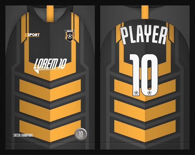 Design tshirt sportiva modello maglia calcio