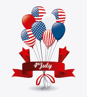 Design usa. independence day 4 luglio