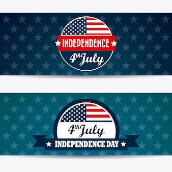 Design usa. independence day 4 luglio