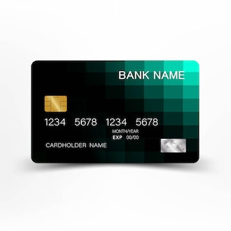 Design verde della carta di credito.