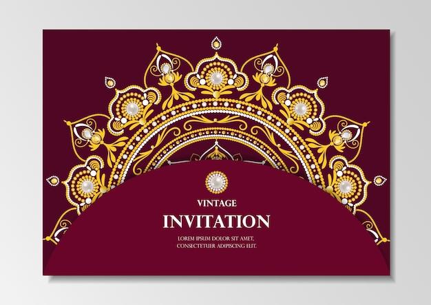 Design vintage di carta di invito