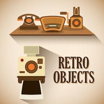 Design vintage di oggetti retrò