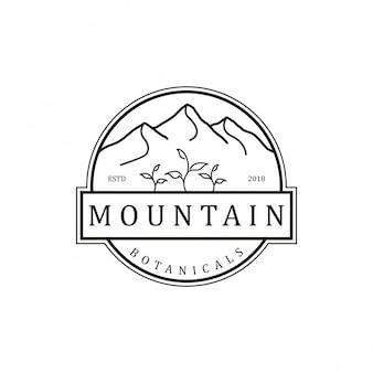 Design vintage logo di montagna