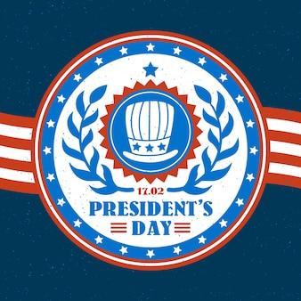Design vintage per il giorno dei presidenti