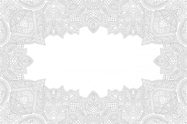 Design zen libro da colorare lineare con copia spazio