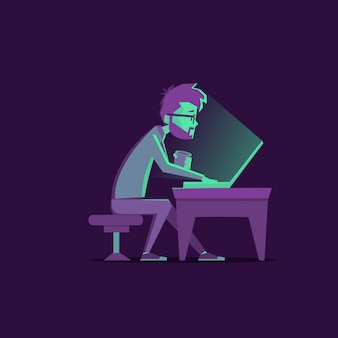 Designer di lavoro notturno