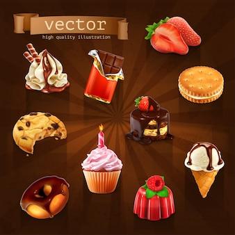 Dessert set 3d
