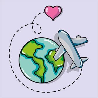 Destinazione di viaggio per vacanze e turismo d'avventura