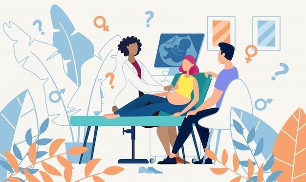 Determinazione del sesso di scansione di ultrasuoni della medicina