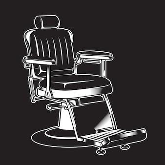 Dettagliato isolato dell'annata della sedia del barbiere
