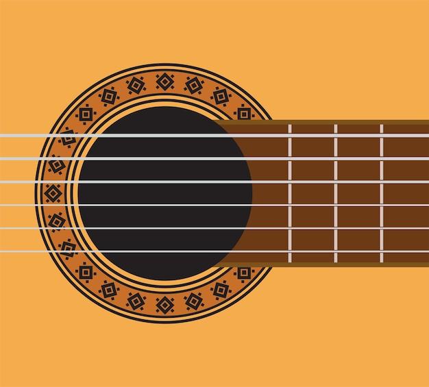 Dettaglio chitarra - buca per chitarra