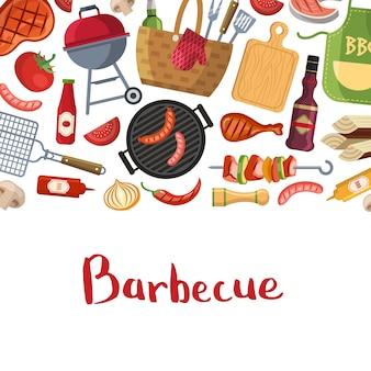 Di barbecue o grill cottura con il posto per il testo