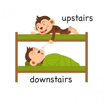 Di fronte al piano di sopra e al piano di sotto illustrazione vettoriale