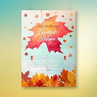 Dì hello to autumn poster design