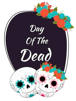 Dia de los muertos (day of the dead) concetto di festival.