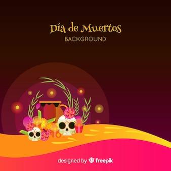 Dia de muertos design di sfondo