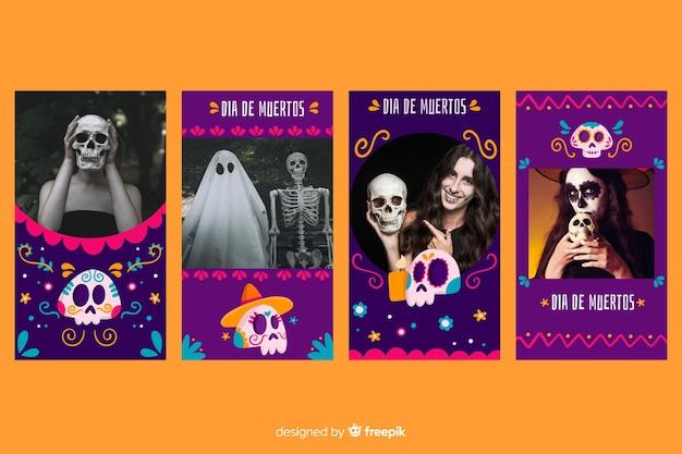 Día de muertos instagram stories collection