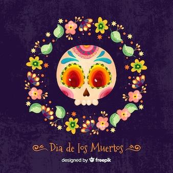 Día de muertos sfondo colorato