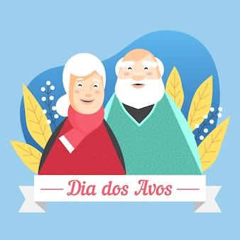Dia dos avós con gli anziani
