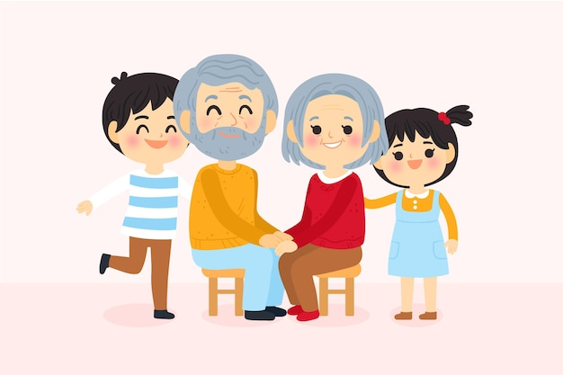 Dia dos avós con i nipoti
