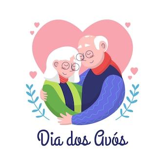 Dia dos avós disegna la celebrazione