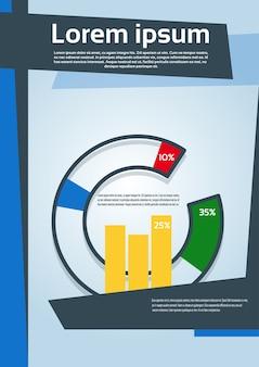 Diagramma a torta con l'aletta di filatoio del grafico finanziario di percentuale