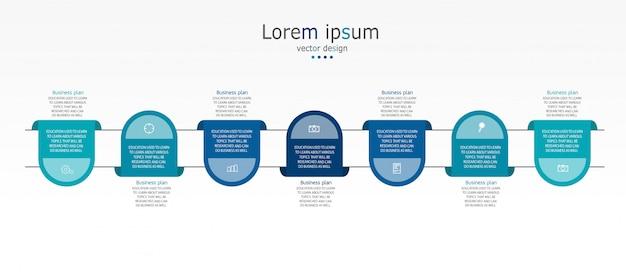 Diagramma infografica modello di business and education