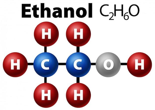 Diagramma molecola di etanolo
