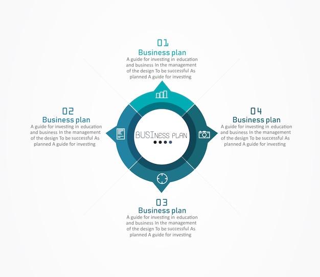 Diagramma utilizzato nel design o nella formazione ci sono quattro livelli o livelli.