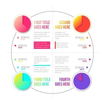 Diagrammi a sfera harvey a gradiente - infografica